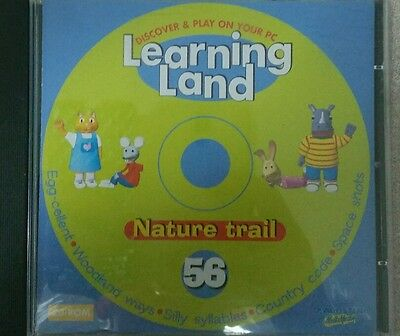 Learning Land 56 Kids Educational Pc Game Disc Exc Cond. Nature Trail