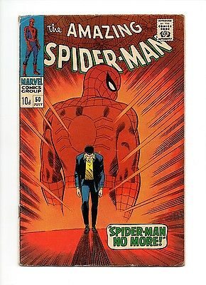 Silver Age Comic Vg/fn Spider Man 50,key Issue,1St Kingpin