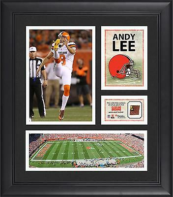 """Andy Lee Cleveland Browns Framed 15"""" x 17"""" Collage with Game-Used Football"""
