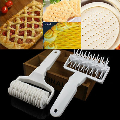 Kitchen Baking Pie Pizza Bread Pastry Tool Lattice Roller Cutter Rolling Pin