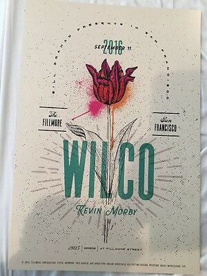 Wilco Sept 11 Fillmore Poster Kevin Morby