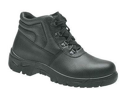 Grafters M5501A Safety Steel Toe Cap Womens Black Leather Work Boots UK3-9