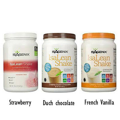 Isagenix IsaLean Nutritional Protein Shake Strawberry 840g Canister