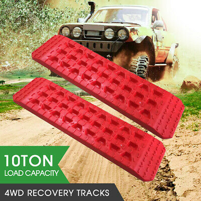 Pair 4WD Recovery Tracks 10T Off Road 4x4 Snow Mud Sand Track 10 ton Blue AU