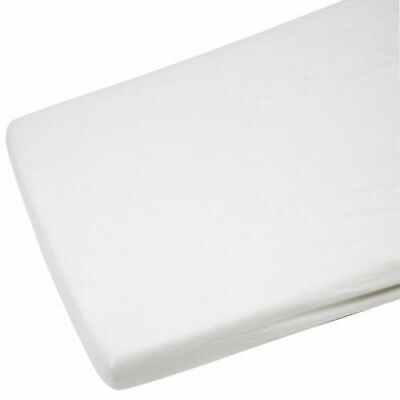 2x Cot Bed Jersey Fitted Sheet For Toddler 100% Cotton 140x70cm White