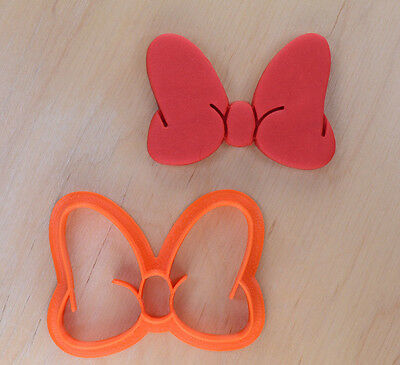 Minnie Style Bow Cookie Cutter - 3d printed plastic