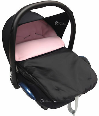 Car Seat Footmuff / Cosy Toes Compatible with All Car Seats Light Pink