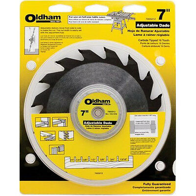 "Porter-Cable Oldham 7"" Adjustable Dado Blade 7005012 New"
