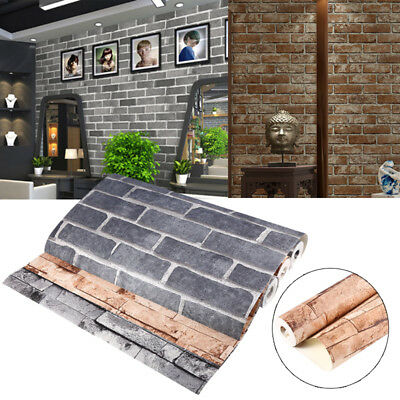 Brick Stone Rustic Vintage 3D Wallpaper Backdrop Wall Covering Paper 10M US