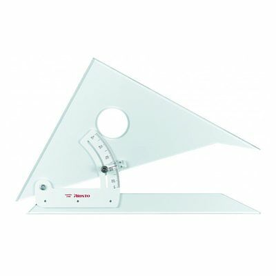 """Aristo 8"""" (20cm) Adjustable Set Square. For Technical Drawing. With Inking Edge"""