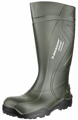 Dunlop Purofort Full Safety Thermo -20c Green Mens Work Wellington Boots UK3-14