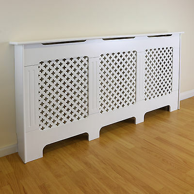 SALE White Traditional Extra Large Radiator Cabinet/Cover DAMAGED PACKET #414
