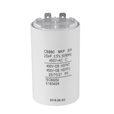 CBB60 25uF 450V AC Motor Run Start Capacitor 50/60Hz for Washing Machine HS837