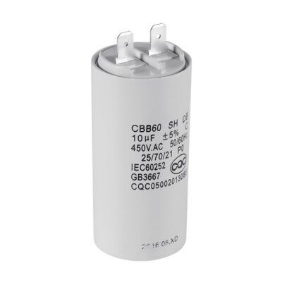 CBB60 10uF 450V AC Motor Run Start Capacitor 50/60Hz for Washing Machine HS838