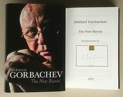 Hand Signed Book MIKHAIL GORBACHEV The New Russia - PRESIDENT - Reagan + my COA