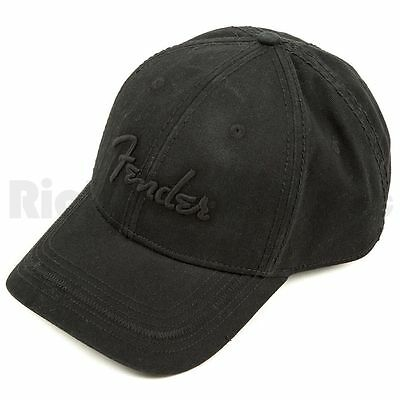 Fender Hat Logo Topstitch Black One-size