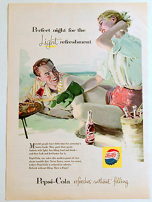 1957 Vintage Advertising For Pepsi-Cola