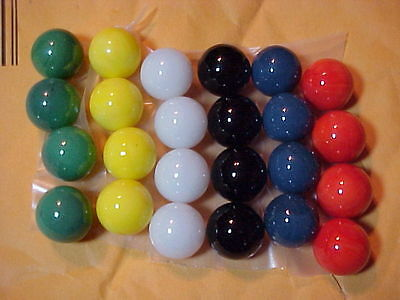 "24 ""marble King"" Game Replacement Marbles,for Crafts,games, Etc $5.99 Postpaid!!"