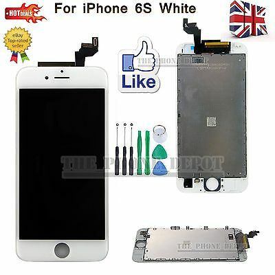 """Replacement For iPhone 6S 4.7"""" LCD Dispaly Touch Screen Digitizer Frame White UK"""