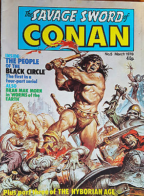 The Savage Sword of Conan #5 - March 1978 UK Monthly Marvel