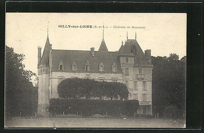 formidable CPA Gilly-sur-Loire, Chateau de Sommery 1926