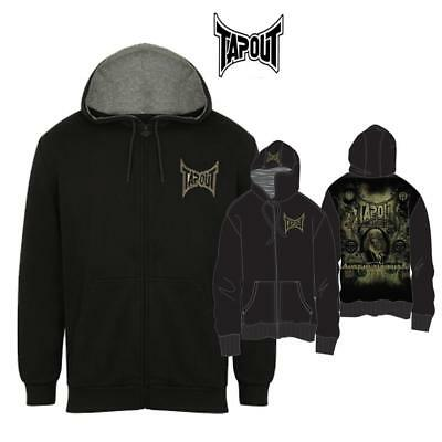 Tapout Men's Full Zip Hoodie MMA Cage Fighting  Training Casual Top Large