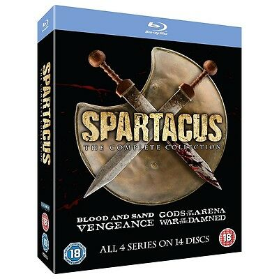 Spartacus 1-4 The Complete Collection Blu-ray - Brand new!