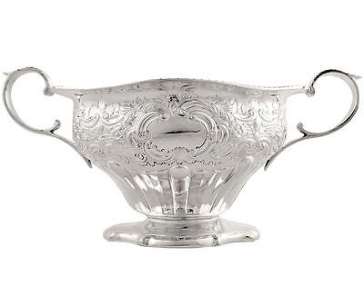 Antique Victorian Sterling Silver 2 Handle Bowl - 1895