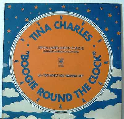 """TINA CHARLES UK 1979 LIMITED 12"""" Single Boogie Round The Clock"""