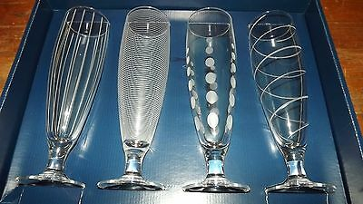 NEW Mikasa Cheers Pilsner Glasses Set of 4 Made in France Sw910 425 SW910/425
