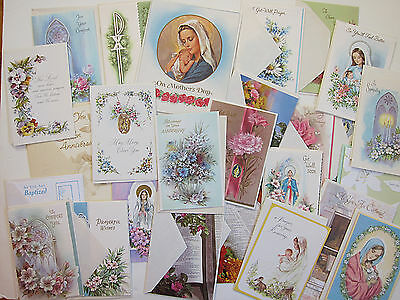 Vintage Religious Greeting Cards Mixed Lot w/ Envelopes NEVER USED NEW
