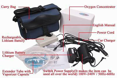 2017 new Portable Oxygen Concentrator Generator f Car Home/Travel CE+Battery+Bag