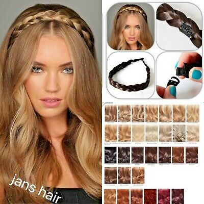 Stranded hair Chunky plait braided headband hairpiece clipped braid hairband