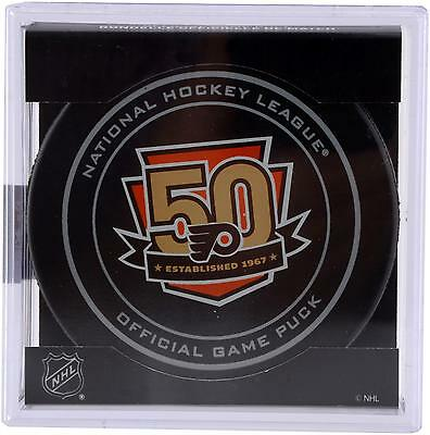 Philadelphia Flyers Unsigned 50th Anniversary Season Official Game Puck