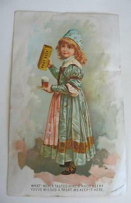 1800's Hires Root Beer Trade Card, What Never Tasted Before ? N.Y.  U.S.A.