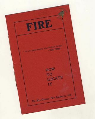 Fire: How to locate it - May-Oatway Fire Applicances, c1900s