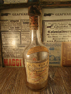 ++Antique++ FRENCH Wine bottle / with orig. paper label / Paris c1880