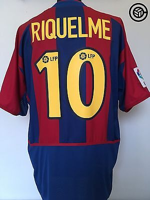 RIQUELME #10 Barcelona Nike Player Issue Spec Football Shirt Jersey 2002/03 (XL)