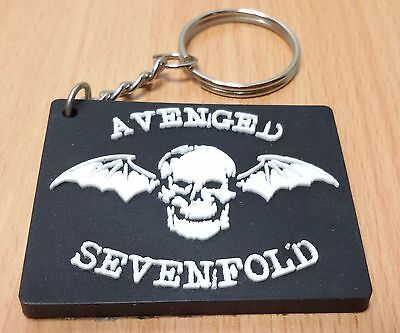 New Avenged Sevenfold Keychain Keyring Rubber For Unisex With Charm Day Ru84