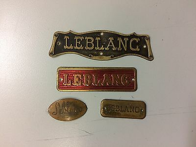 4 Vintage Leblanc Case Labels