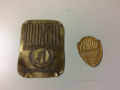 2 Vintage Martin Case Labels
