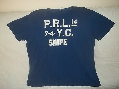 POLO RALPH LAUREN PRL YC SNIPE STITCHED T-Shirt Size XL