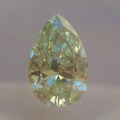 Diamant vert naturel pear SI2 HRD 0.90 ct
