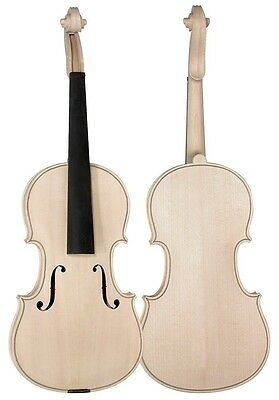 DIY Violin In White Anton Breton VW-3 Fiddle Project Kit Full Size High Quality