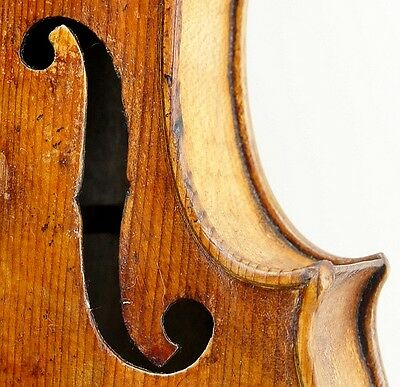 Very Old and Interesting Antique Handmade Violin-Circa 18th century-No Reserve!