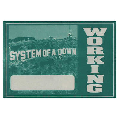 System of a Down authentic Working 2001-2002 tour Backstage Pass