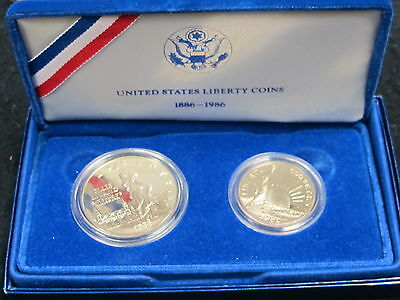 1886-1986 United States Liberty Coins Statue of Liberty/Ellis Island Proof Set