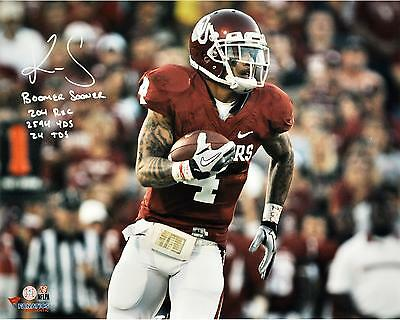 Kenny Stills Oklahoma Sooners Autographed 16x20 Horizontal Red Photo with Inscs