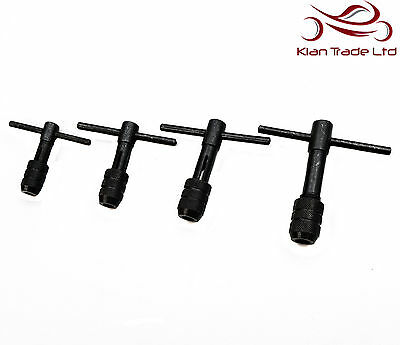 STANDARD T HANDLE TYPE TAP WRENCH 4.7mm 6mm 8mm 12mm THREADING TOOL 4 SIZES