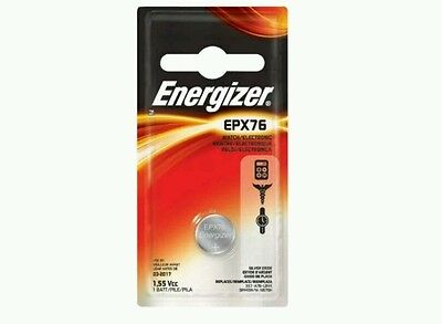 Lot of 4, Energizer EPX76 - Silver Oxide Button Cell Battery, new, free ship